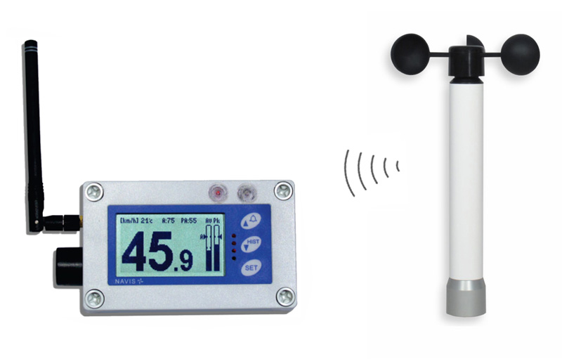 W410 - Wireless anemometer with alarm outputs